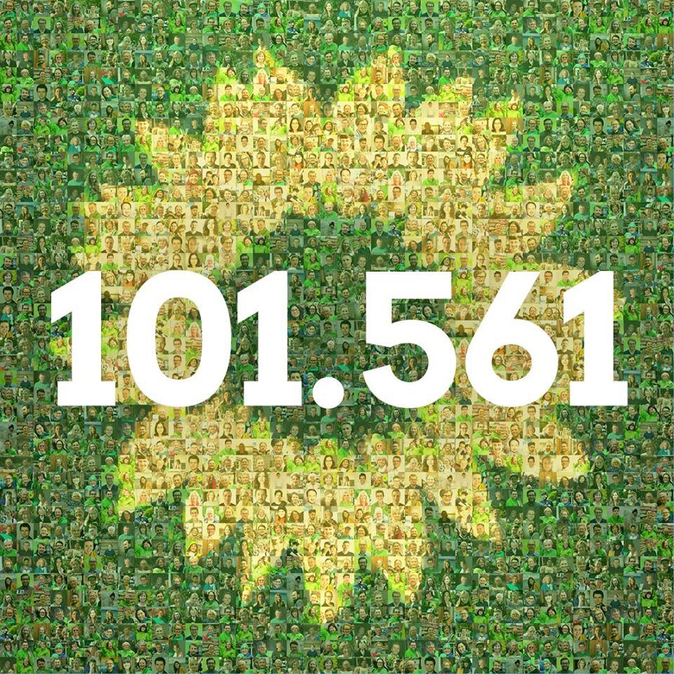 Mehr als 100.000 sind GRÜN