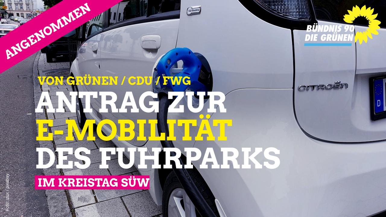 Antrag zur E-Mobilität des kreiseigenen Fuhrparks