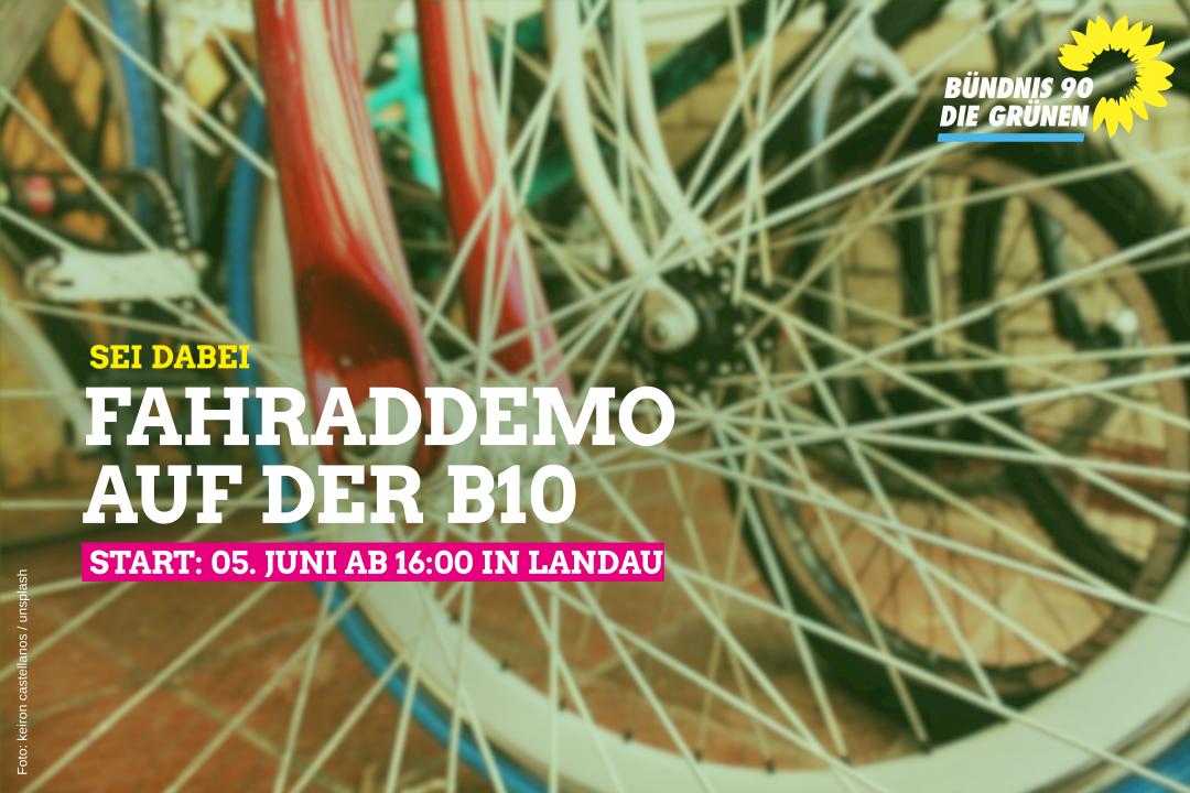 Fahrraddemo auf der B10