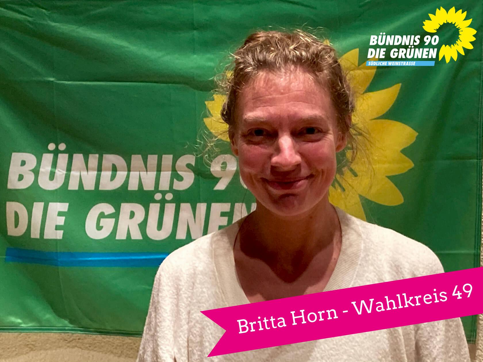 Britta Horn, Kandidatin von Bündnis 90/Die Grünen für den 18. Landtag