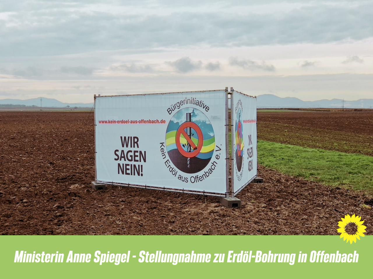 Ministerin Anne Spiegel Stellungnahme zu Erdöl-Bohrung in Offenbach