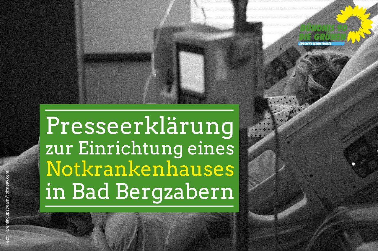 Presseerklärung zur Einrichtung eines Notkrankenhauses in Bad Bergzabern